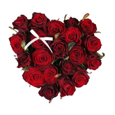Сердце из роз в коробке Киев