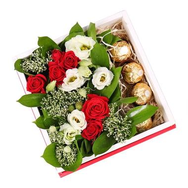 Цветы + конфеты: Цветочная Радость Коминтерновское