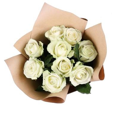 9 белых роз Гадсден