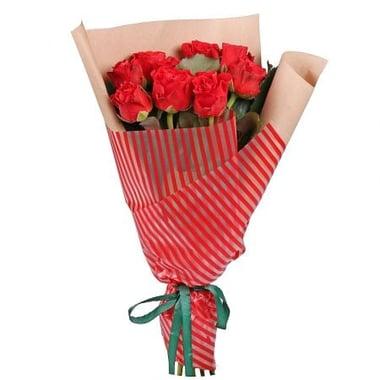 9 красных роз Талса