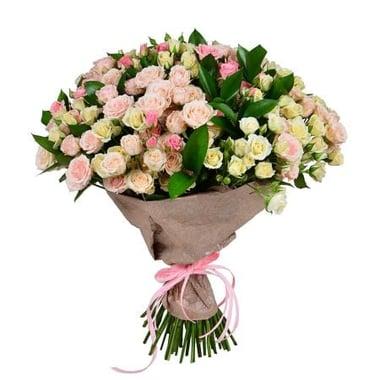 Бело-розовый (из кустовой розы) Киев