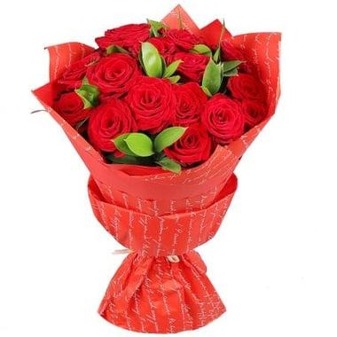 Букет из красных роз 19 шт Крупки