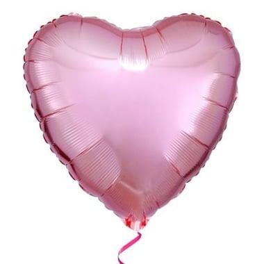 Фольгированное сердце розовое Киев