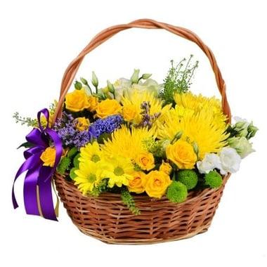 Корзина солнечных цветов Киев