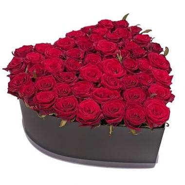 51 роза в коробке Киев