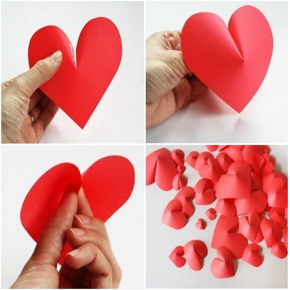 Открытки с днем святого валентина своими руками из бумаги детям, сереже днем