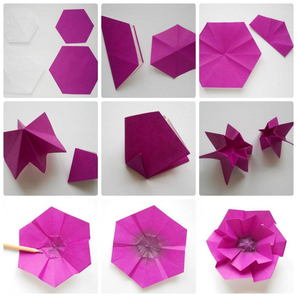 Как делать цветок с оригами